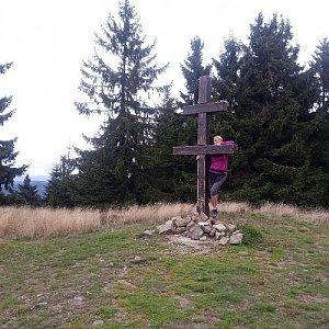 Jana Těšíková na vrcholu Veľký Javorník (16.9.2019 18:21)
