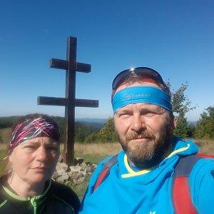 Martin a Jana Halamíčkovi na vrcholu Veľký Javorník (21.9.2019 11:14)