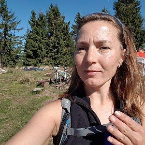 Marcela Kubíčková na vrcholu Veľký Javorník (22.9.2019 11:07)