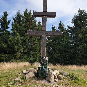 Petr Pepe Peloušek na vrcholu Veľký Javorník (29.9.2019 11:57)