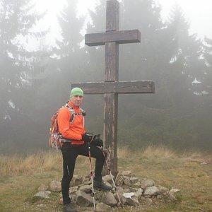 Čestmír Kubíček na vrcholu Veľký Javorník (2.11.2019 9:45)
