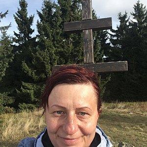 Kamila  Petrová na vrcholu Veľký Javorník (8.11.2019 12:02)