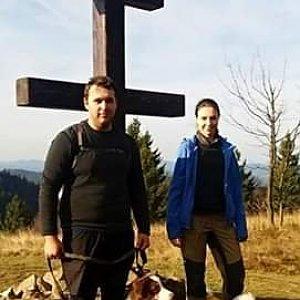 Kristián Lecián na vrcholu Veľký Javorník (17.11.2019 12:30)