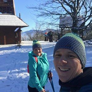 Veronika Durajová na vrcholu Veľký Javorník (25.1.2020 11:49)