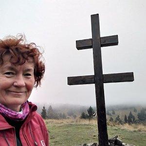 Anna na vrcholu Veľký Javorník (27.9.2020)