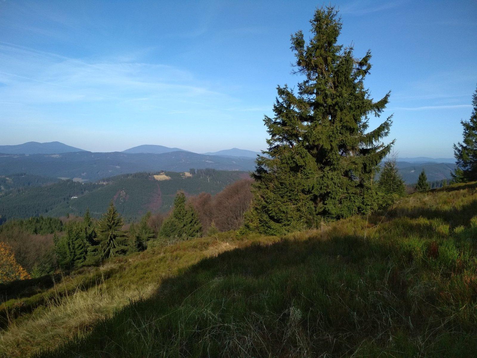 Katka na vrcholu Veľký Javorník (4.11.2018 12:30)