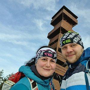 Petra Kudelová na vrcholu Veľký Javorník (2.1.2021 11:08)