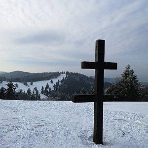 Johny na vrcholu Veľký Javorník (10.2.2019 14:40)