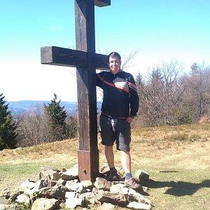 Michal Krčmář na vrcholu Veľký Javorník (21.4.2019 14:16)