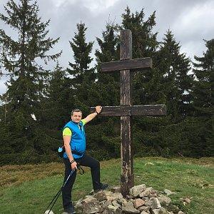 Jarek na vrcholu Veľký Javorník (21.5.2019 17:50)