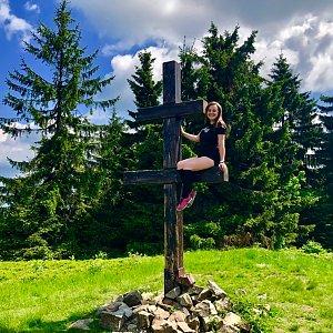 Nicole na vrcholu Veľký Javorník (8.6.2019 10:55)