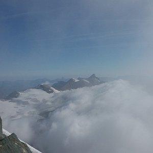 Štěpánka na vrcholu Grossglockner (12.8.2018 9:00)
