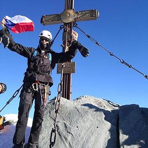 Jirka M. na vrcholu Grossglockner (9.9.2020 9:22)