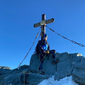 Martin Malý na vrcholu Grossglockner (6.7.2021 6:15)
