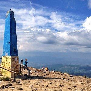 Martin Matějka na vrcholu Hoverla (5.8.2018 15:30)
