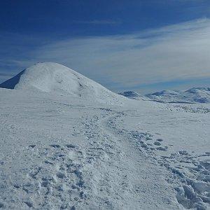 Manjula na vrcholu Hoverla (10.2.2019 11:43)