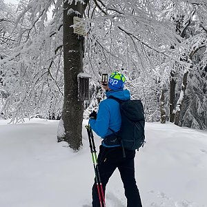 Martaska na vrcholu Tanečnice - Z vrchol (29.1.2021 7:23)