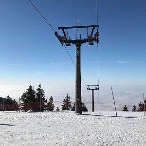 Alice Nádherová na vrcholu Lysá hora (21.2.2021 9:40)