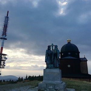 Martin Vlček na vrcholu Radhošť (13.8.2019 19:21)