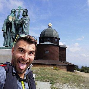 Martin Vlček na vrcholu Radhošť (14.8.2019 14:37)