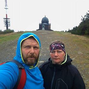 Martin a Jana Halamíčkovi na vrcholu Radhošť (29.9.2019 9:26)