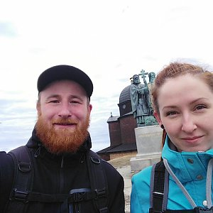 Kuba na vrcholu Radhošť (5.4.2018 10:39)