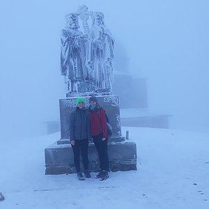 Leňa Fabiánová na vrcholu Radhošť (20.1.2018 10:05)