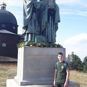 David 002 na vrcholu Radhošť (15.7.2019 16:44)