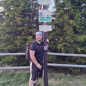 Jakub Špaček na vrcholu Radhošť (21.10.2019 17:38)