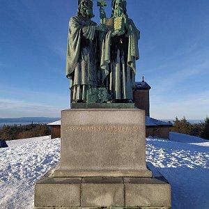 invader na vrcholu Radhošť (2.1.2020 14:55)