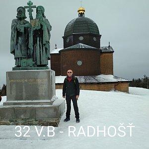 Aleš Sýkora na vrcholu Radhošť (4.1.2020 10:42)