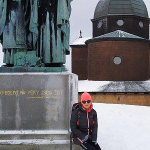 Pavlína Sýkorová na vrcholu Radhošť (4.1.2020 10:43)
