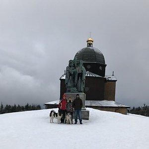 Ivana na vrcholu Radhošť (4.1.2020 14:56)