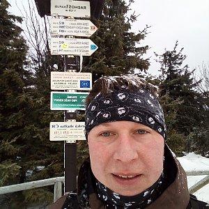Jarda Gorka na vrcholu Radhošť (4.1.2020 10:11)