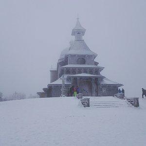 Lenka na vrcholu Radhošť (5.1.2020 12:06)