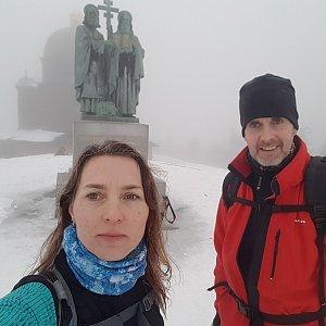 Marcela Kubíčková na vrcholu Radhošť (11.1.2020 14:30)
