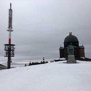 Jiří Šrámek na vrcholu Radhošť (18.1.2020 11:41)