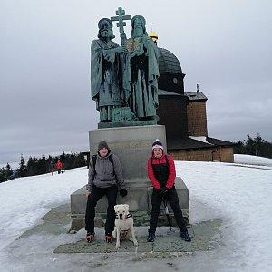 Lukáš, Vojta, a Martin Maupi Day na vrcholu Radhošť (18.1.2020 16:35)