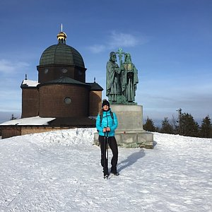 Vendula Valigurová na vrcholu Radhošť (22.1.2020 1:45)