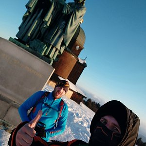 Vašek Bauer na vrcholu Radhošť (24.1.2020 15:49)