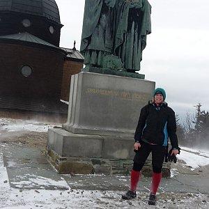 Michaela Karásková na vrcholu Radhošť (29.2.2020 14:49)