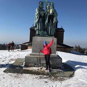 Kateřina Turčeková na vrcholu Radhošť (24.3.2020 15:00)