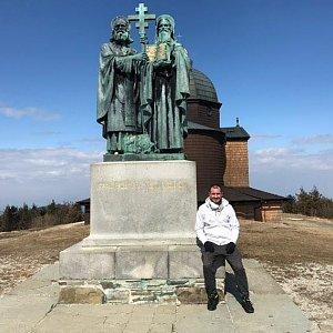 Bartek_na_cestach na vrcholu Radhošť (3.4.2020 15:17)