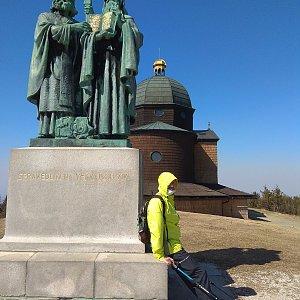 Merkys na vrcholu Radhošť (6.4.2020 14:00)