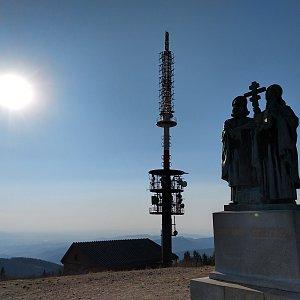 Miros na vrcholu Radhošť (9.4.2020 17:10)