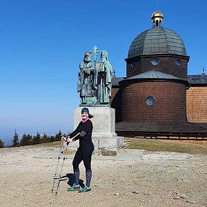 Venďa na vrcholu Radhošť (12.4.2020 9:40)
