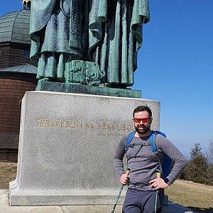 Radoss na vrcholu Radhošť (10.4.2020 13:59)