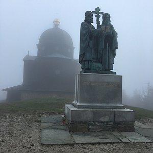 Jarek na vrcholu Radhošť (2.5.2020 8:10)