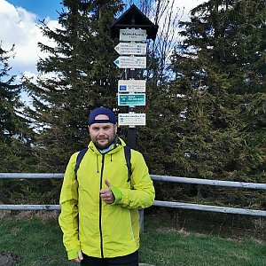 Tomáš Mucha na vrcholu Radhošť (4.5.2020 12:05)