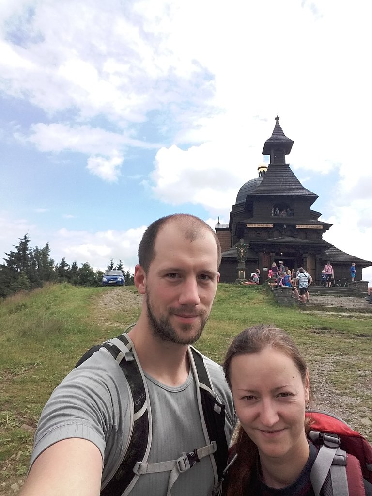 Paja&Tom na vrcholu Radhošť (7.7.2018 14:47)